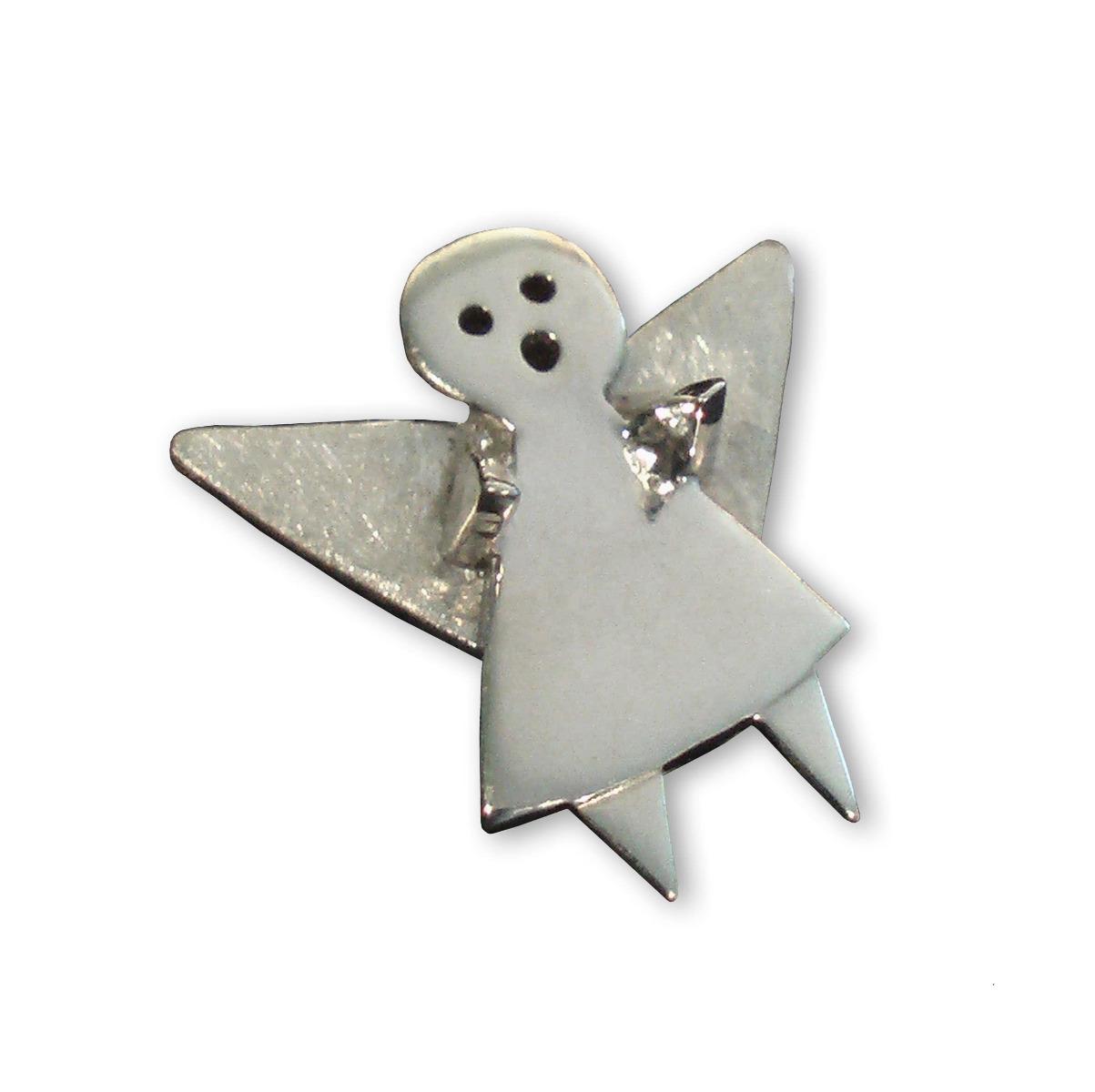 Sterling Silver Guardian Angel Pin