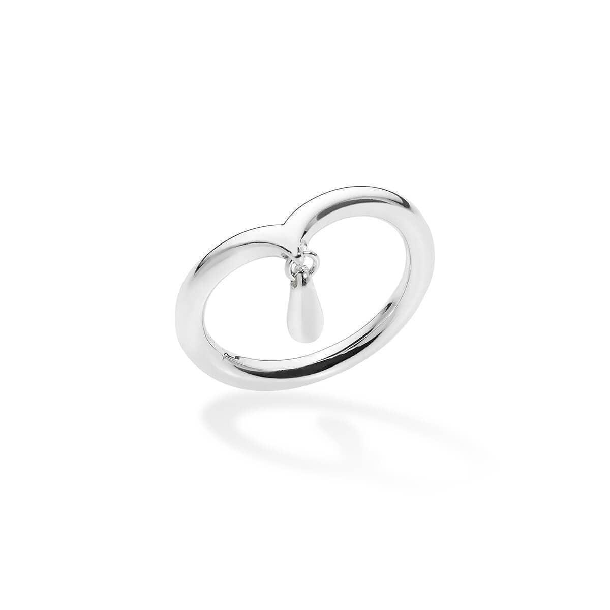 Midi Ring With Drop