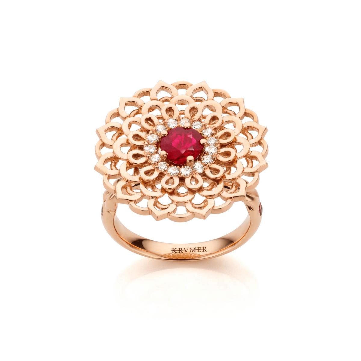 18kt Rose Gold Morning Star Ring