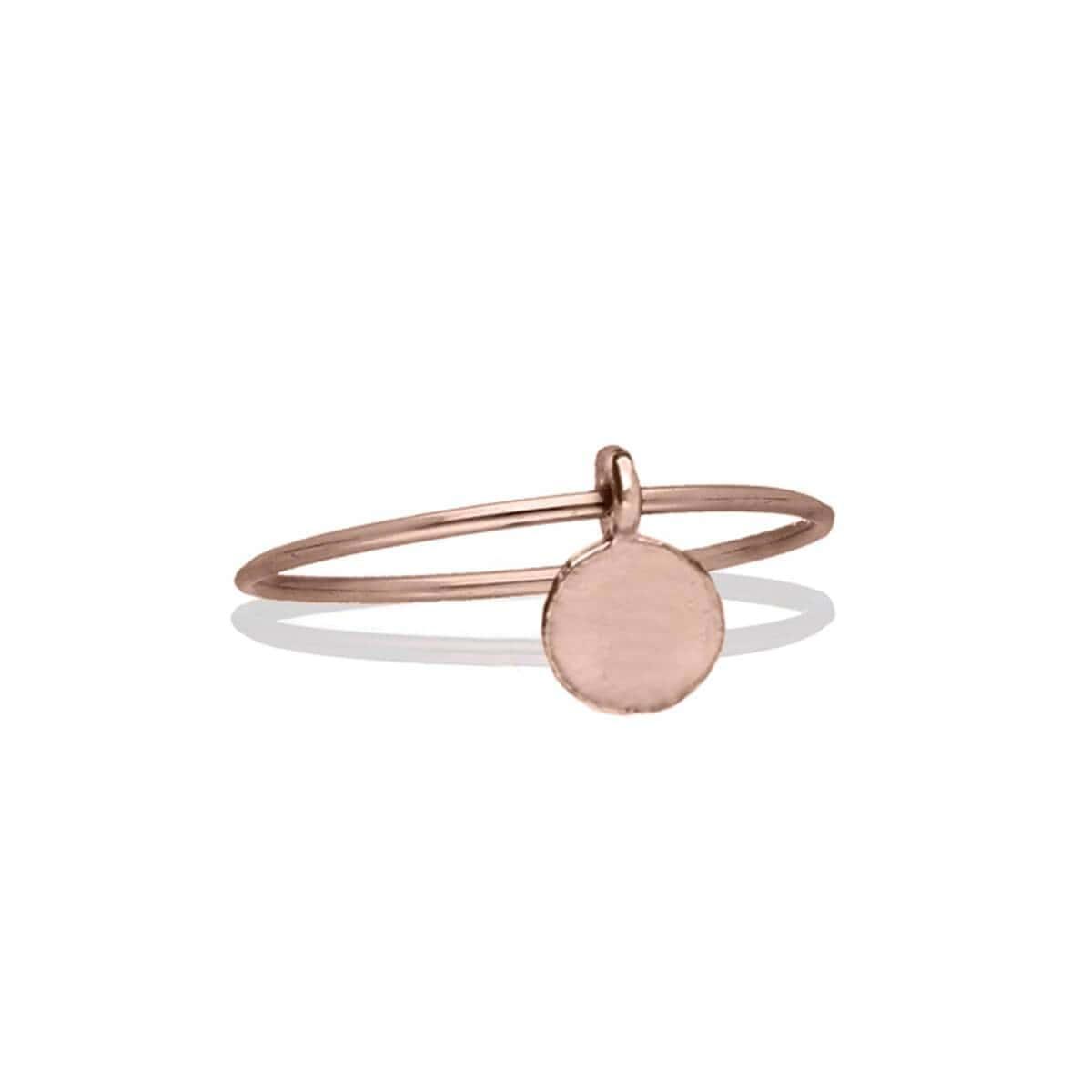 9kt Rose Gold Oro Rosa Tondo Ring