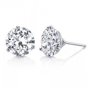 2.01ct Diamond Round Brilliant Martini Earrings