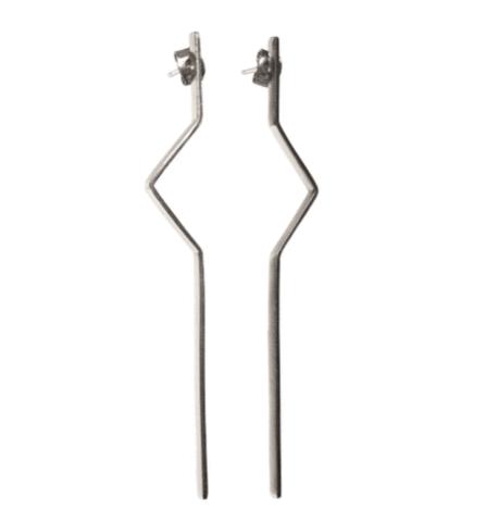 Stirling Silver Mirror-Mirror Earrings