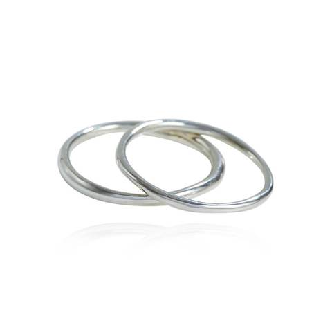 Sterling Silver Come Together Stack Rings