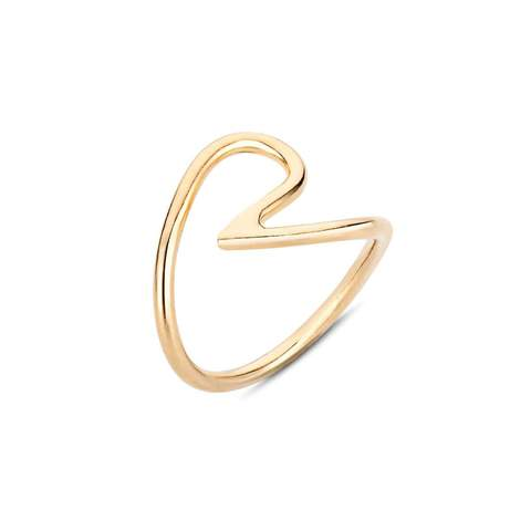 Yellow Gold Plated Cath Ring
