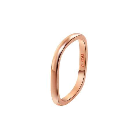 Rose Gold Plated Silver Stacking Ring