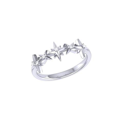 Sterling Silver Starry Lane Ring