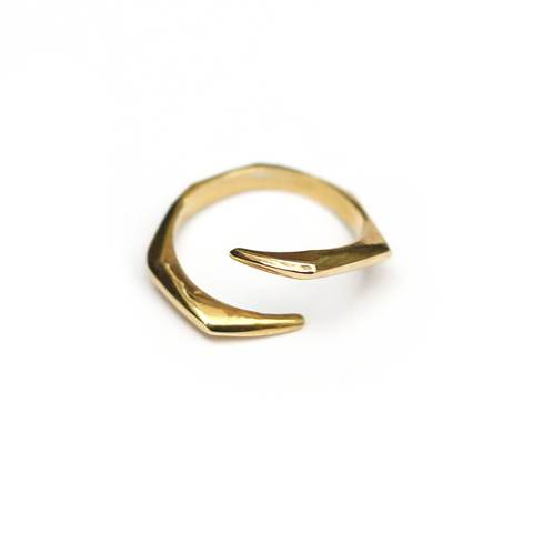 Yellow Gold Plated SAYA Ring