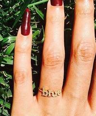Beyonce Blue Ring