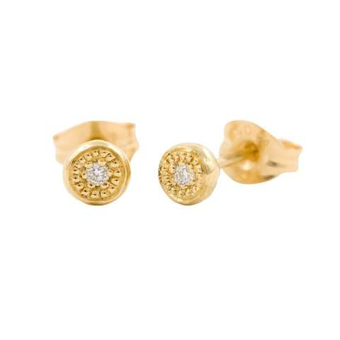 Diamond and gold studs