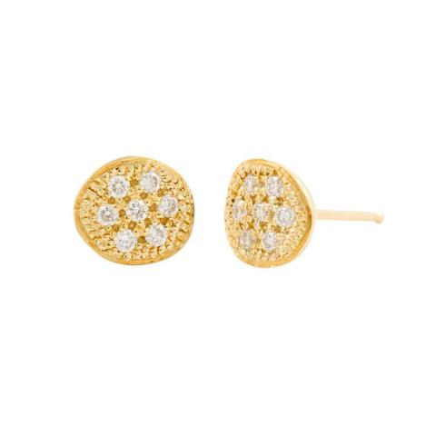 One Circle 7 Diamonds Studs