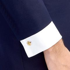 Gold Bee Chain Cufflinks
