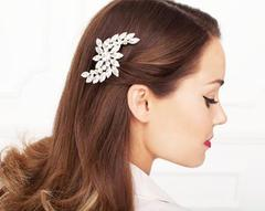 Brooch styled in hair