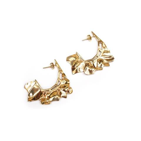 Yellow Gold Plated MARA Earrings