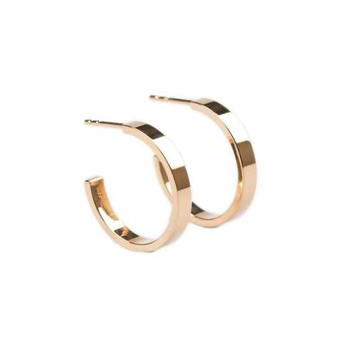 14kt Rose Gold Essential Hoops
