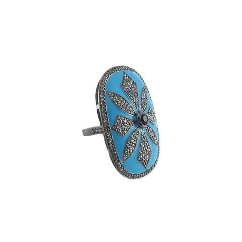 Gemdrop blue gemstone ring