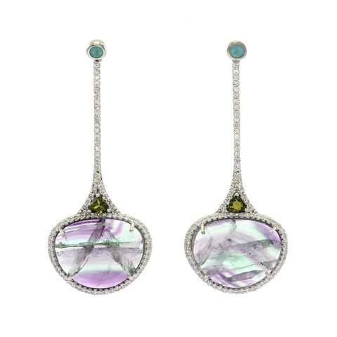 Ri Noor Gemstone earrings