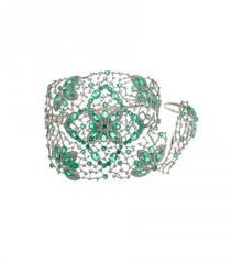 Emerald Ring And Cuff Bracelet