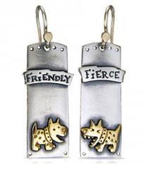'Fierce And Friendly' Drop Earrings