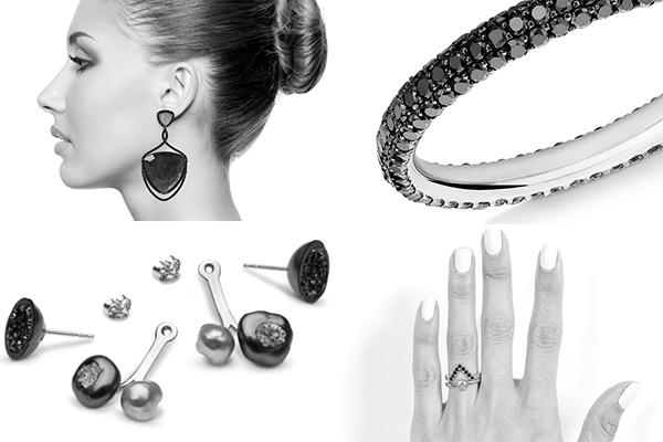 Selection of Black Diamond Jewellery