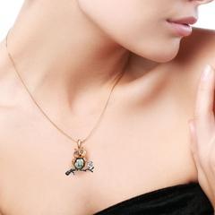 Rose Gold & Pearl Owl Eden Pendant