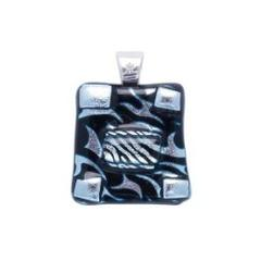 Capella Diamond And Fine Art Glass Jewel Pendant