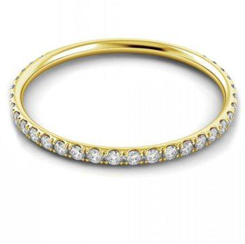 Danhov Classico Round Yellow Gold Diamond Band