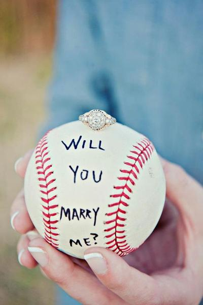 Proposing during a sports event