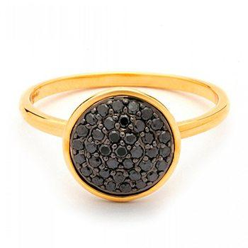 18kt Black Diamond Chakra Ring