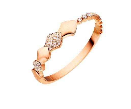 Python Rose Gold Diamond Bracelet