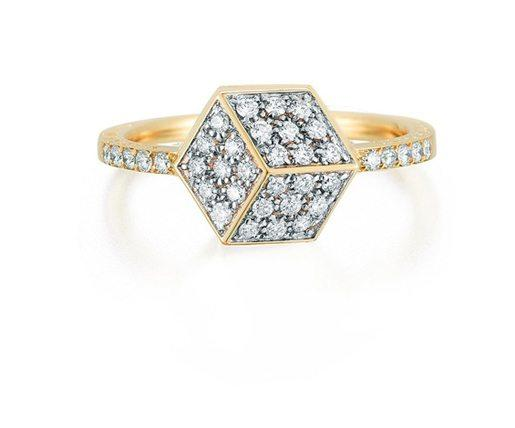 Yellow Gold And Diamond Brilliant Ring, Petite