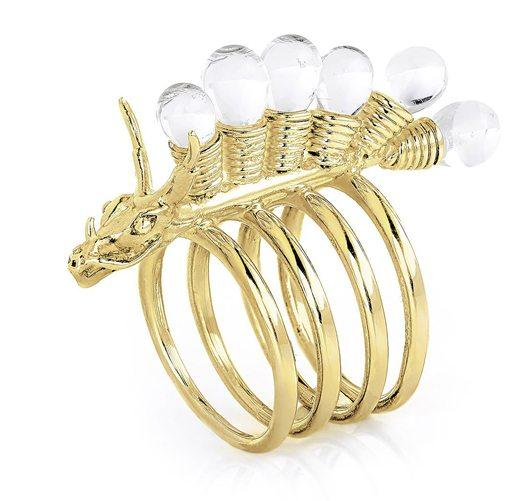 The Golden Dragon's Crest Ring