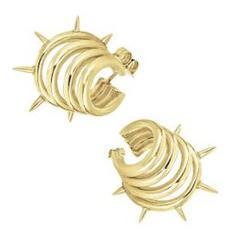 The Golden Punk Dragon Earrings