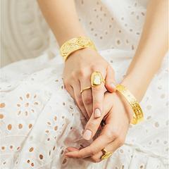 Gold Heavenly Cuff Bangle