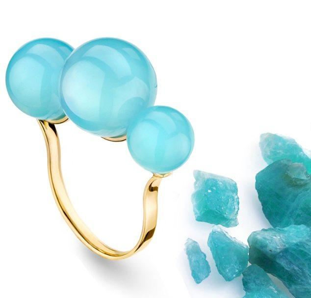 Empress - Pink Gold Ring With Chalcedony