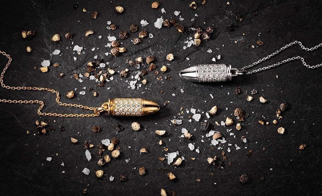 Bang Bang Black Titanium and Black Diamonds Pendant