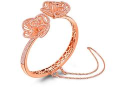 Cascade Bangle In Rose Gold Vermeil