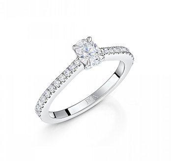 Love Oval Cut Diamond Ring