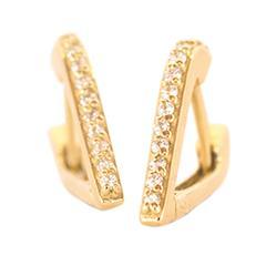 Gold & Diamond Huggy Earrings