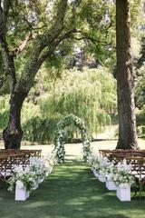 Dressing for a garden party wedding