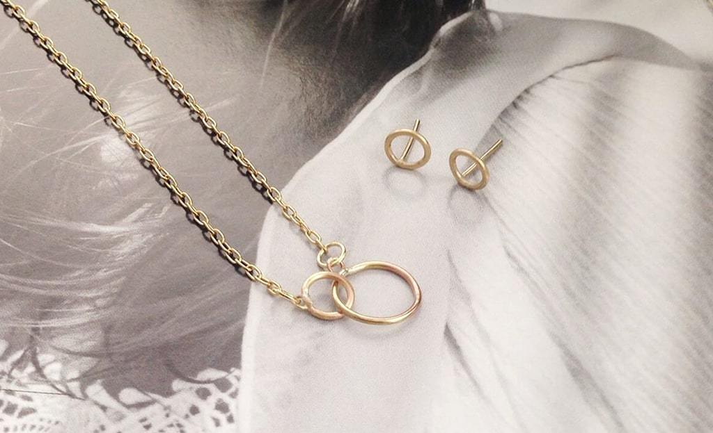 Gold Classic Karma Stud Earrings