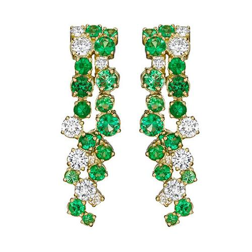 emerald meltingice earring