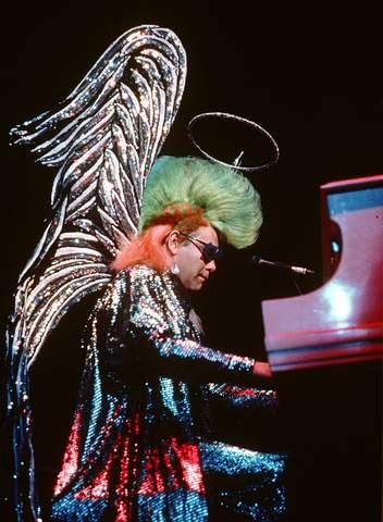 Elton John Performing