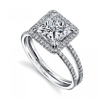 2.31ct Princess Cut Arabesque Ring