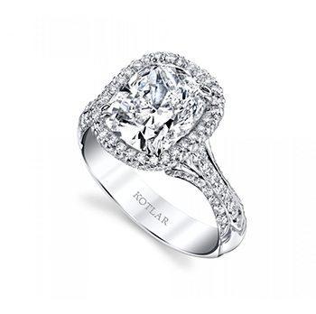 3.52ct Kotlar Cushion Edwardian Ring