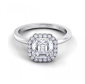 Per Lei Shank Asscher Engagement Ring