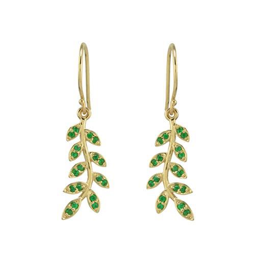 emerald leaf earrings copy
