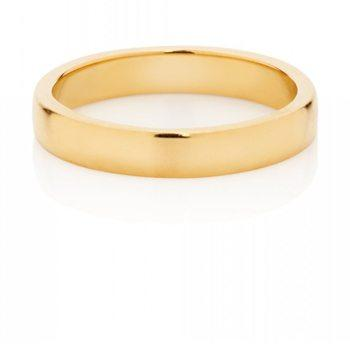 18kt Gold Round Band