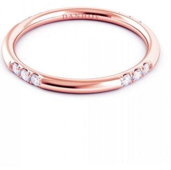 Classico Round Rose Gold Diamond Band