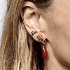 Gold Seafire Earrings