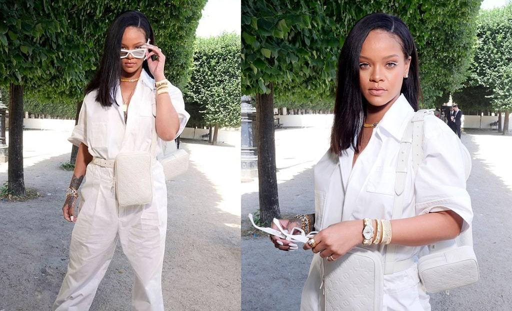 Rihanna wears utility